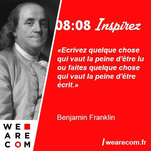 citation Benjamin Franklin communication