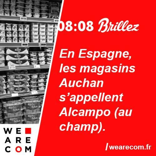 brillez - savoir utile - auchan - alcampo