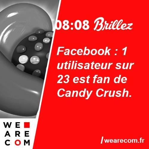 brillez - savoir utile - candy crush - facebook - fan