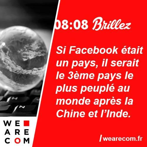brillez - savoir utile - facebook - monde - big - communication