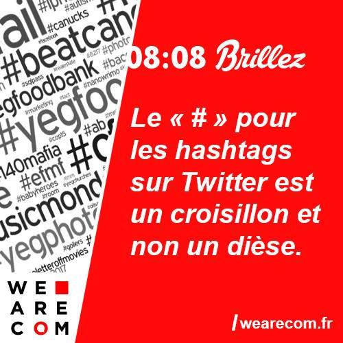 brillez - savoir utile - twitter - # - hashtags - communication