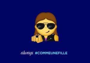 #LikeAGirl 2.5_Postcard_Girl Emoji Badass_FR