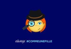 #LikeAGirl 2.5_Postcard_Girl Emoji Dectective_FR