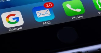 email sur smartphone