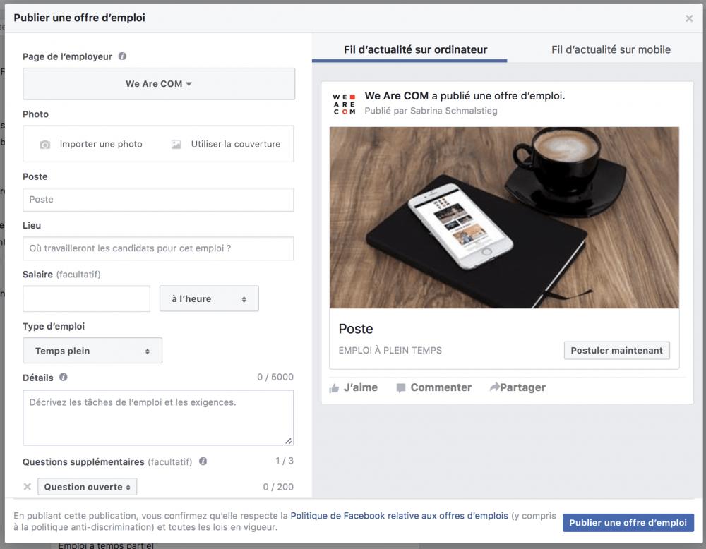 Facebook-emploi-poster-offre