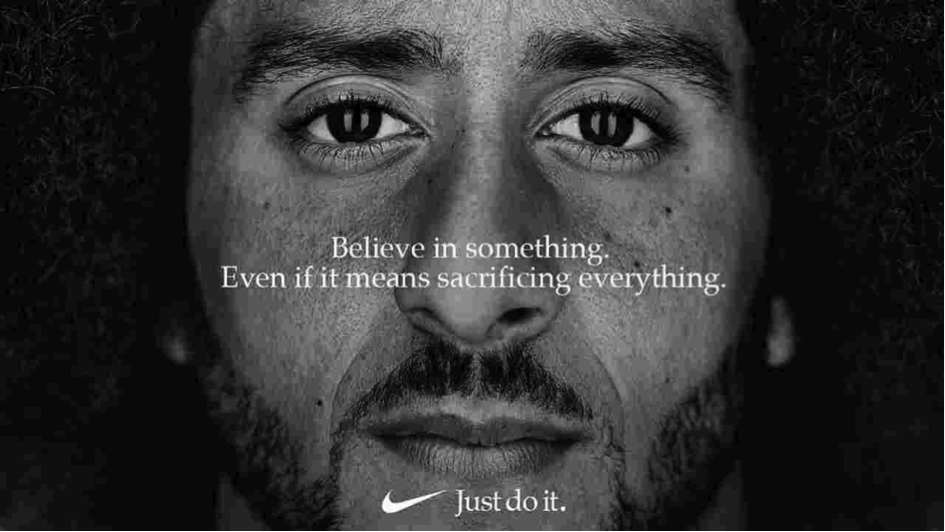 """Campagne Nike """"Believe in something. Even if it means sacrificing everything."""""""